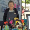 Jenny of Piggle's Craft at the Nanaimo Downtown Farmers Market.